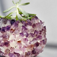 Free People Quartz Crystal Plant Vase