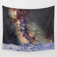 Sagitario, Scorpio and the star Antares over the hight mountains Wall Tapestry by Guido Montañés