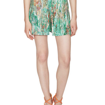 Virginia Paradox Silk Print Wrap Skort