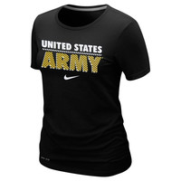 Army Black Knights Nike Women's Crew Dri-FIT T-Shirt – Black