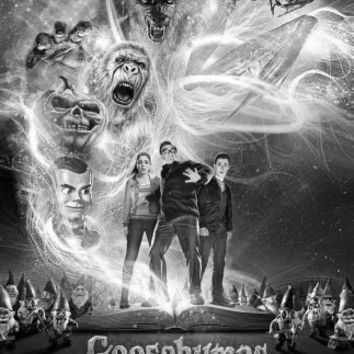 """Goosebumps Poster Black and White Poster 24""""x36"""""""
