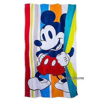 Licensed cool NEW HUGE JUMBO MICKEY MOUSE SUMMER FUN SOFT Beach Towel Disney Store 40'' x 70''
