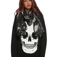 The Nightmare Before Christmas Cameos Oblong Scarf