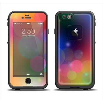 The Unfocused Color Rainbow Bubbles Apple iPhone 6/6s LifeProof Fre Case Skin Set