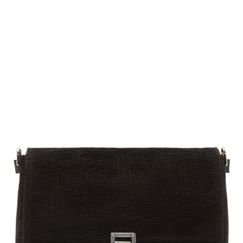 Proenza Schouler Black Laser-cut Leather Ps Small Courier Bag
