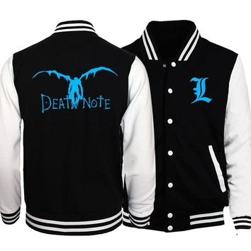 Trendy Death Note Bomber Jacket For Male Plus Size Men's Jackets 2018 Winter Coat Anime Noctilucent BLEACH Night Lights Men Tracksuits AT_94_13