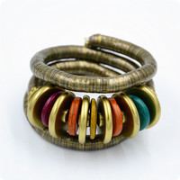Jewelry Shiny New Arrival Stylish Hot Sale Punk Vintage Snake Bone Style Turquoise Ring Bangle [4970303876]