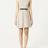 DRESS WITH PLEATED SKIRT - ZARA United States