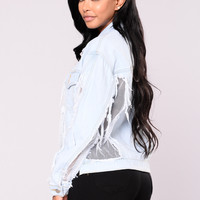 Becky Organza Denim Jacket - Light