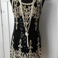 Free Shipment,Roaring 20s, gatsby, winter wedding, charleston, flapper party dress, dance competition, size UK 12-14, USA 10-12, EU 40-42