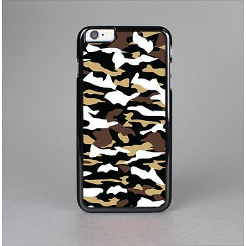 The Green-Tan & White Traditional Camouflage Skin-Sert Case for the Apple iPhone 6