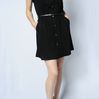 Button Down Back Casual Dress