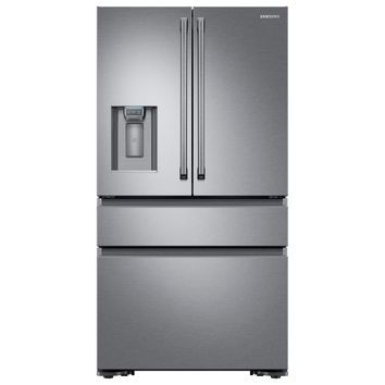 Samsung 22.6 cu. ft. 4-Door French Door Refrigerator with Polygon Handle in Stainless Steel, Counter Depth-RF23M8090SR - The Home Depot