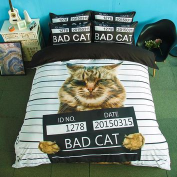 US Queen Size Cats Bedding Set