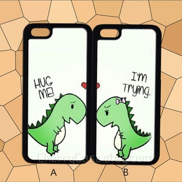 Cute Dinosaur couple case,iPhone 6 case,iPhone 5/5S case,iPhone 4/4S case,Samsung Galaxy S3/S4/S5 case,HTC Case,Sony Experia Case,LG Case