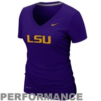 Nike LSU Tigers Ladies Legend V-Neck Performance T-Shirt - Purple