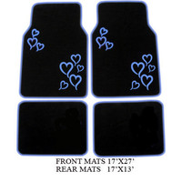BRAND NEW* BLUE HEARTS CAR FLOORMATS *GOODQUALITY&CUTE*