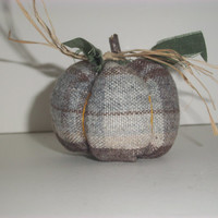 THANKSGIVING FABRIC PUMPKINS, Primitive, Handmade, Wool, Ooak, Country Decor, Cottage Chic, Earthtones