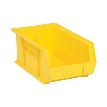 Quantum Storage Systems Ultra Stack And Hang Bin 13-5/8Lx 8-1/4Wx 6H - Yellow Pack Of 12