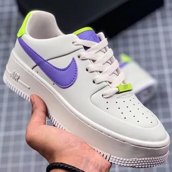 Trendsetter Nike Air Force 1 Sage Low Lx Women Men Fashion Casual Old Skool Shoes