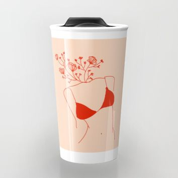 Flowers in her head Travel Mug by Aljahorvat