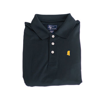 Mississippi Hattiesburg Clubhouse Performance Polo Black