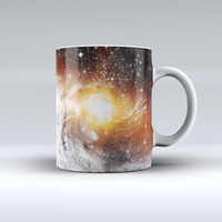 The Golden Space Swirl ink-Fuzed Ceramic Coffee Mug