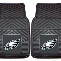 Philadelphia Eagles Heavy Duty Vinyl Front Seat 2 Piece Car Mat Set