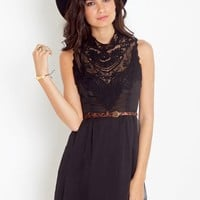 Emme Crochet Dress - Black in  Clothes Dresses Party at Nasty Gal
