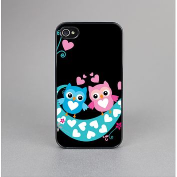 The Pink & Blue Vector Love Birds Skin-Sert Case for the Apple iPhone 4-4s