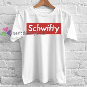 Rick and Morty Supreme Inspired Schwifty T Shirt gift tees cool tee shirts