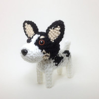 Rat Terrier Stuffed Toy Amigurumi Dog Crochet Puppy Plush Doggie Doll / Made to Order