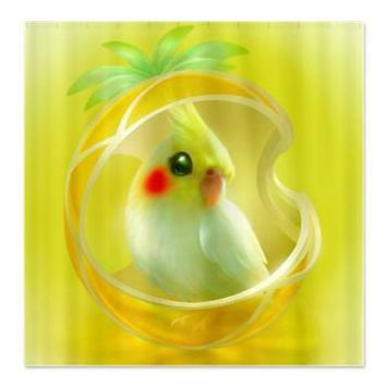 Whimsical Candy Color Pet Cockatiel Shower Curtain> Decorator Shower Curtains> MORE PRODUCTS-CLICK HERE-GetYerGoat.com