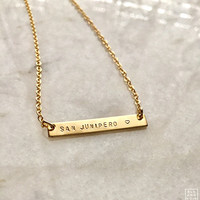 Small Nameplate Necklace