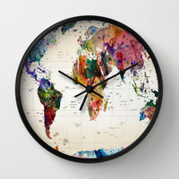 map Wall Clock by Mark Ashkenazi