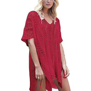 TOOPOOT Clearance Deals Sundress ❤ Women Tassel Gauze Solid Hem Beachwear Crochet Smock Bikini Cover up