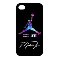 Galaxy Infinity Air Jordan APPLE IPHONE 4/4s Best Rubber+PVC Cover Case Colorful Michael Jordan logo By Every New Day