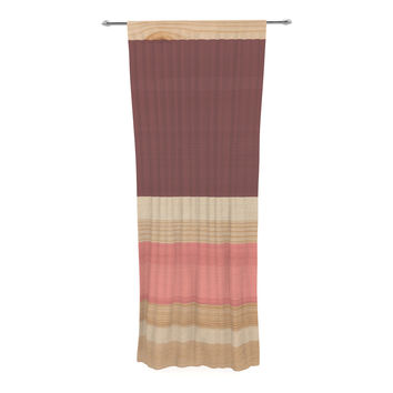 "KESS Original ""Spring Swatch - Marsala Strawberry"" Red Pink Decorative Sheer Curtain"