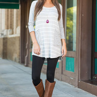 Pocket Perfectors Top, Heather Gray