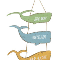 Whale Themed Wall Hanging Decor