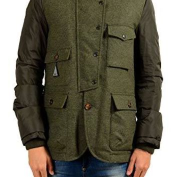 Moncler Men's Baptiste Olive Green Wool Down Parka Jacket Moncler Sz 3 US M