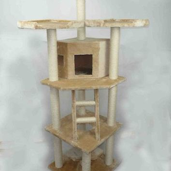 "New BestPet 76"" Cat Tree Condo Furniture Scratch Post Pet House 28B"