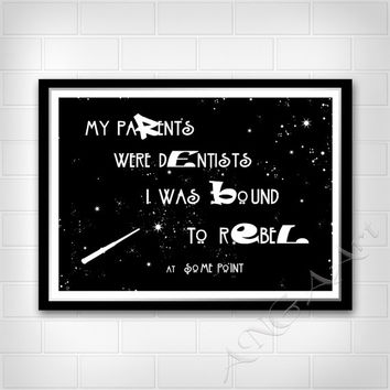 Harry Potter and the Cursed Child, Quote, Hermione Granger quote, Instant download, Digital Poster, Home decor, Nursery decor, Rebel, Print