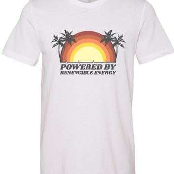 Powered by Renewable Energy Unisex T Shirt