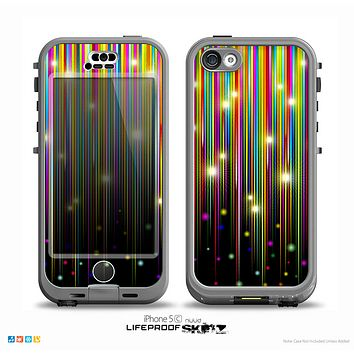 The Falling Neon Color Strips Skin for the iPhone 5c nüüd LifeProof Case