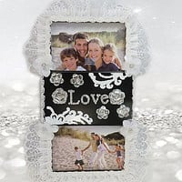 Black Frame - Love Frames - White Frame - Collage Frames - Gifts For Mom - Engagement Gift - Girlfriends Gift - Engagement Gift - Girls Gift