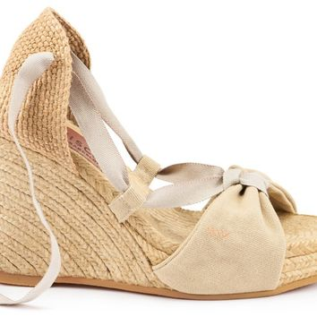 Tamariu Canvas Wedges - Beige