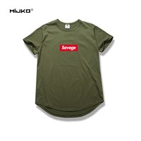 MIJKO Brand Mens Fashion 21 Savage T Shirt Parody No Heart X Savage 1:1 Letter Print T-Shirt Cotton Suprem Short Sleeve Tops Tee