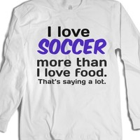 White T-Shirt | Fun Soccer Shirts