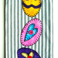 Easter Applique Kitchen Towel, Dish Towel, Hand Towel, Tea Towel